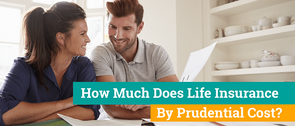 Couple reviewing the costs for life insurance and are happy with what they see.